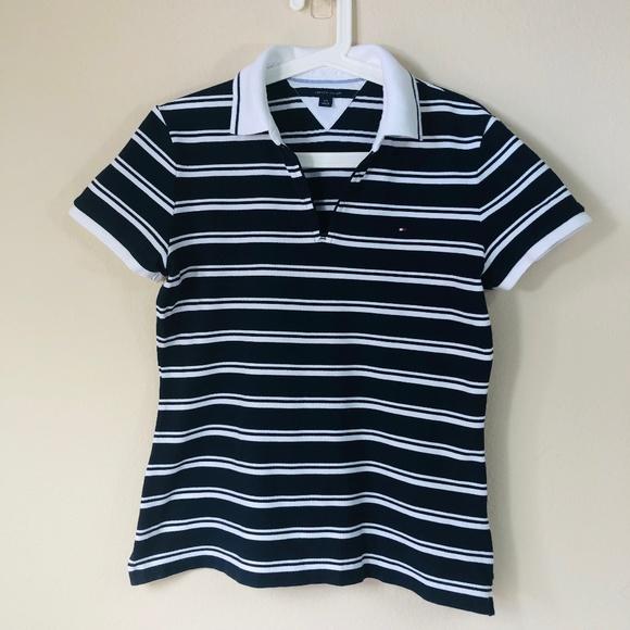 9fdbad84 Tommy Hilfiger Tops | Womens Striped Polo L | Poshmark